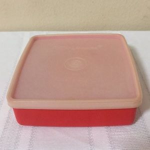 Vintage Tupperware Square A Way Container